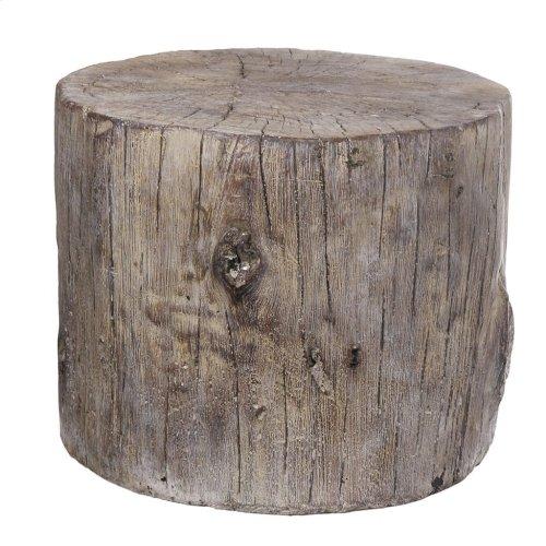 Tree Stump Cement Stool