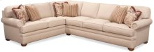BC Options Kensington Panel Arm, Boxed Back, Bun Foot Sectional