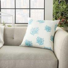"""Outdoor Pillows Bj148 Turquoise 18"""" X 18"""" Throw Pillow"""