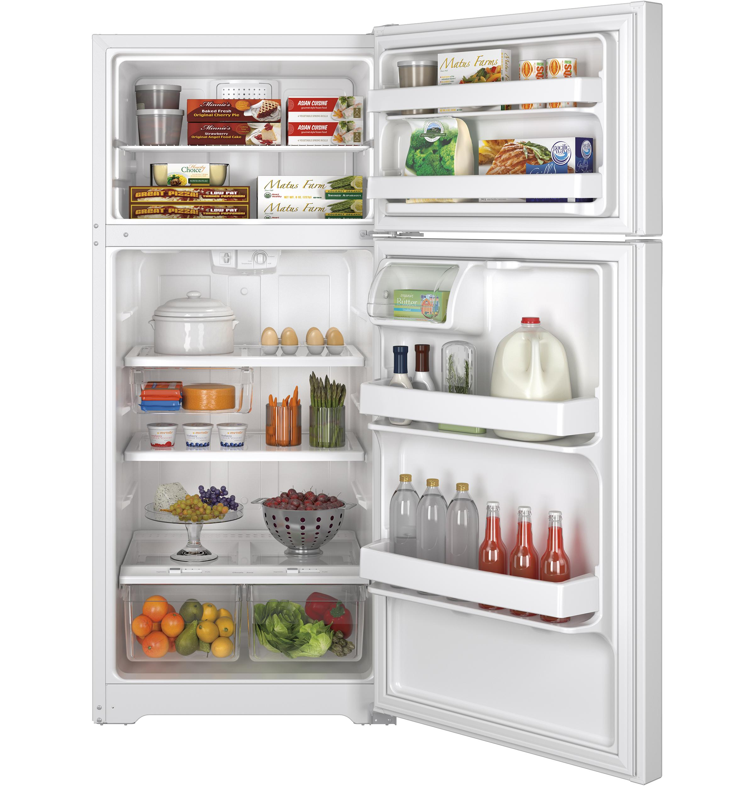 Gte16gthww Ge Ge 174 Energy Star 174 15 5 Cu Ft Top Freezer
