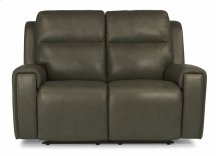 Jasper Leather Power Reclining Loveseat with Power Headrests