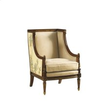 OCCASIONAL CHAIR WITH HAND PAINTED FLORAL MOTIF