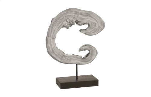Creature Sculpture on Stand, Grey Stone