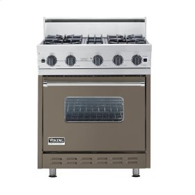 "Stone Gray 30"" Open Burner Range - VGIC (30"" wide, four burners)"