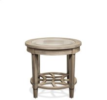 Parkdale Round Side Table Dove Grey finish