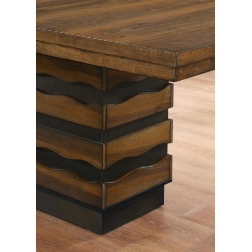 Octavia Rustic Sappy Walnut Dining Table
