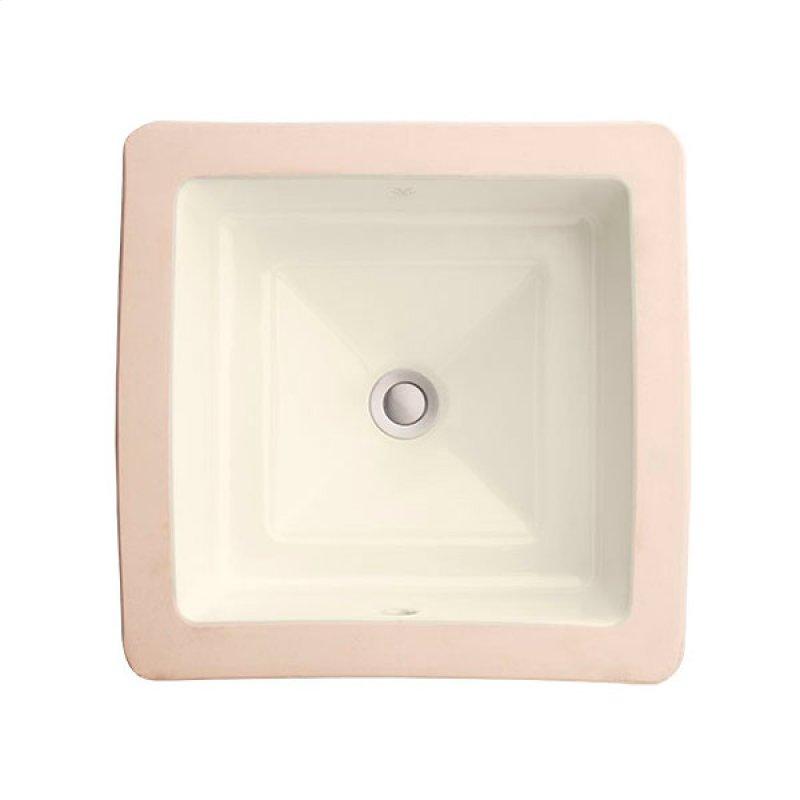 Pop Square Under Counter Bathroom Sink Biscuit Hidden