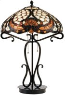 Table Lamp - Dark Bronze/tiffany Shade, Type A 40wx2 Product Image