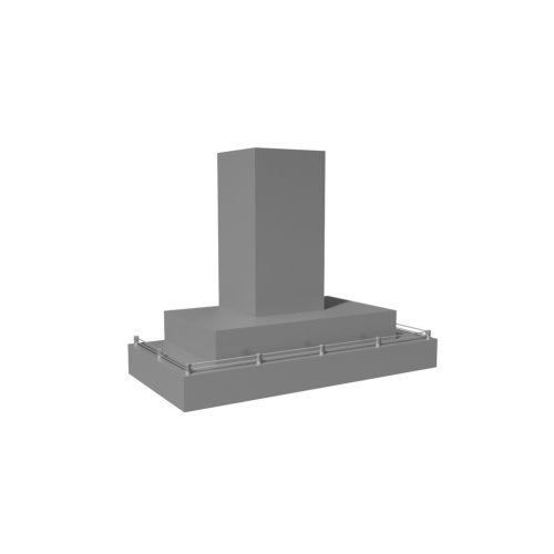 """48"""" 600 CFM Contemporary Wall Mount Range Hood Stainless Steel"""
