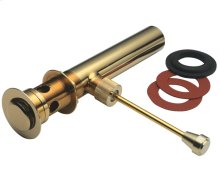 Hand Operated Pop-Up Drain - Antique Brass