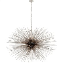 Visual Comfort KW5075BSL Kelly Wearstler Strada 20 Light 50 inch Burnished Silver Leaf Pendant Ceiling Light, Kelly Wearstler, Large, Oval
