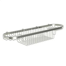 "Polished Nickel 18"" Large Combination Basket"