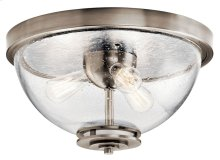 Silberne 3 Light Flush Mount Classic Pewter