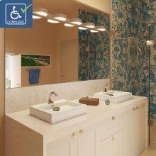 Tallia Rectangular Above-counter Vitreous China Bathroom Sink