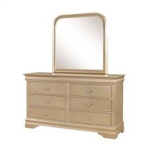 Hershel Louis Philippe Metallic Champagne Six-drawer Dresser