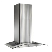 """35-7/16"""" Arched Glass Chimney Hood"""