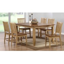 DLU-BR4272-C60-PW7PC  7 Piece Extendable Table Dining Set