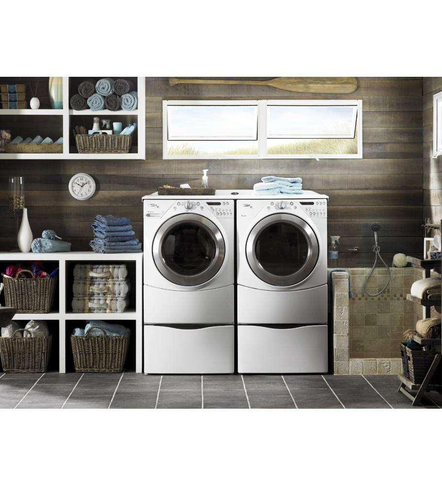 Hidden · Additional 15.5  Laundry Pedestal with Storage Drawer  sc 1 st  REM Electric & XHP1550VW in White by Maytag in Dubuque IA - 15.5