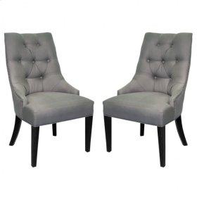 Centennial Dining Chair In Linen Fabric (Set Of 2)