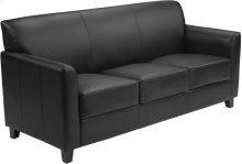 HERCULES Diplomat Series Black Leather Sofa