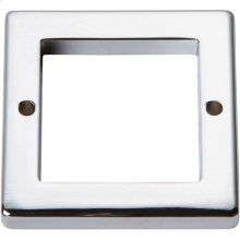 Tableau Square Base 1 13/16 Inch - Polished Chrome
