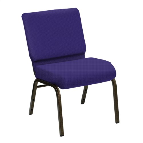 Wellington Lilac Upholstered Church Chair - Gold Vein Frame