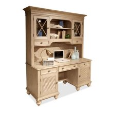 Coventry Credenza Hutch Weathered Driftwood finish