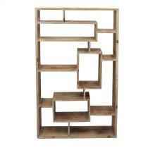 Rectangular Wooden Wall Shelf