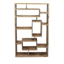 Rectangular Wooden Wall Shelf