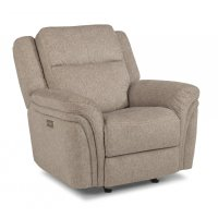 Silas Fabric Power Gliding recliner with Power Headrest Product Image