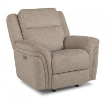 Silas Fabric Power Gliding recliner with Power Headrest