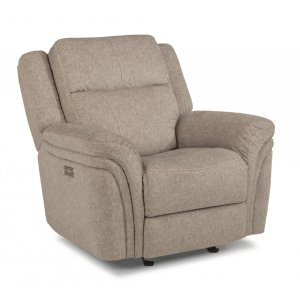 FLEXSTEELSilas Fabric Power Gliding Recliner with Power Headrest