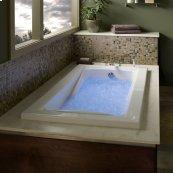 Green Tea 66x36 inch EcoSilent Combo Massage System - White