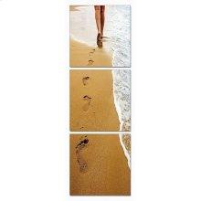 Modrest Footprints 3-Panel Photo