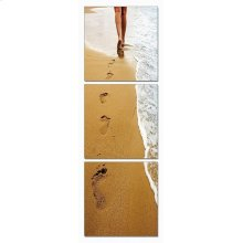 Modrest Footprints 3-Panel Photo