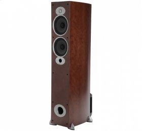 Compact Floor Standing Speaker in Cherry
