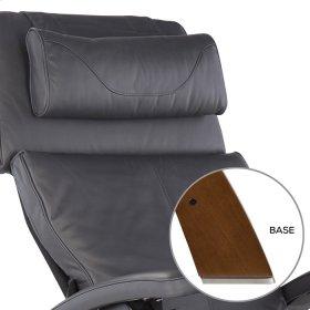 Perfect Chair PC-420 Classic Manual Plus - Gray Premium Leather - Walnut
