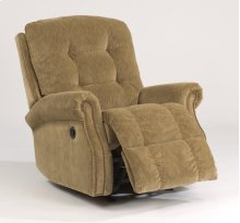 Mackenzi Fabric Power Rocking Recliner with Nailhead Trim
