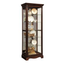 Warm Cherry Mirrored Back Curio