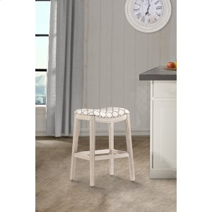 Hillsdale FurnitureSorella Non-swivel Backless Counter Stool - Full K/d Construction - White (wirebrush)