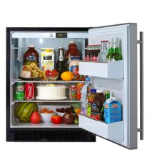 Undercounter Refrigerator - 6ADAM - ADA Compliant, Left Hinge, White Cabinet, WHITE full wrap door and bar handle