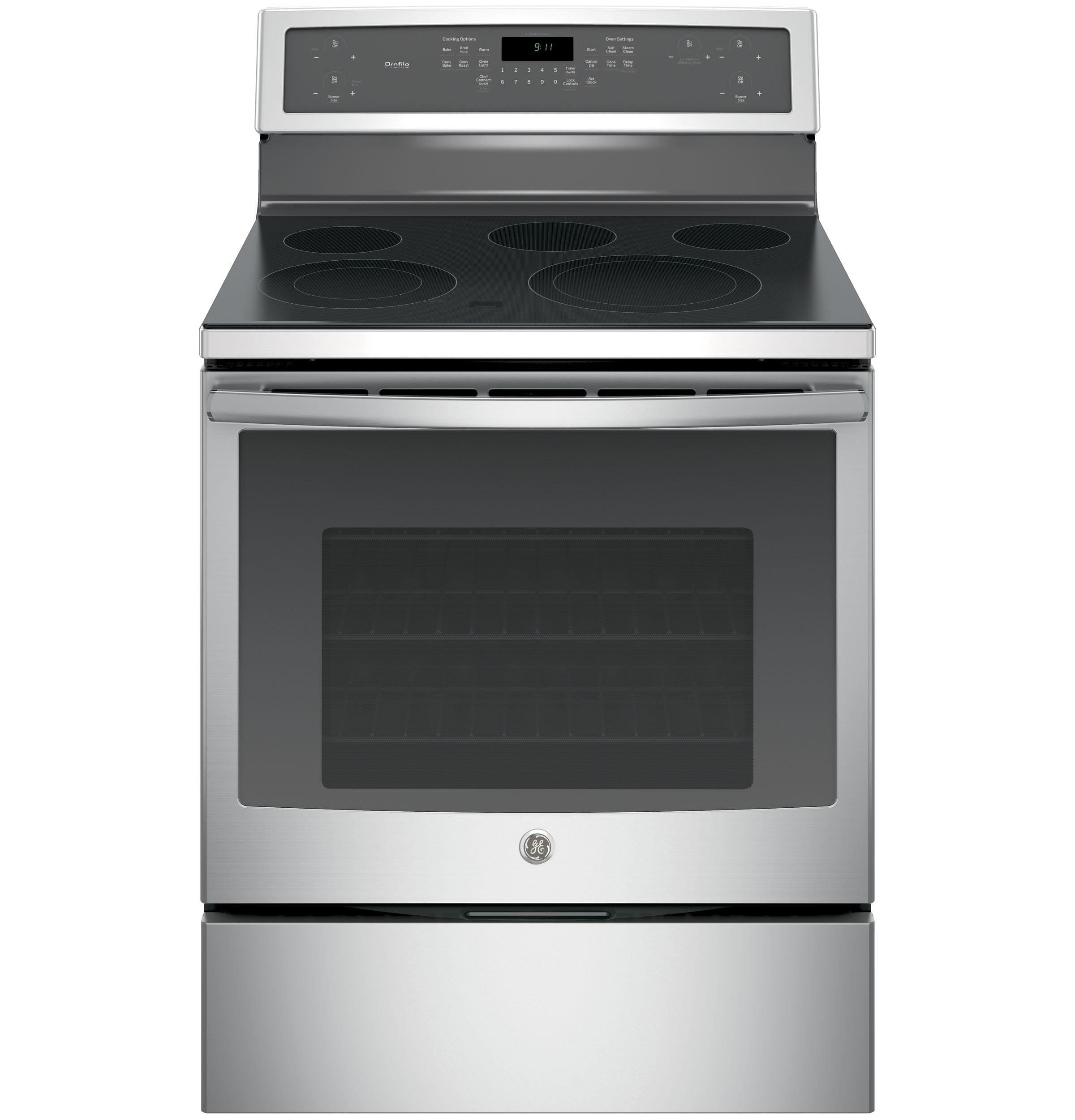 "GE Profile(TM) Series 30"" Free-Standing Electric Convection Range