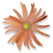 Orange Zinnia Wall Flower