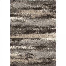Brookfield Contemporary 5x8 Area Rug in Charcoal/Beige