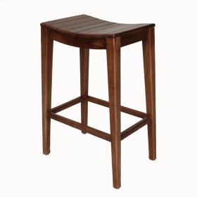 Elmo Wooden Bar Stool, Amber