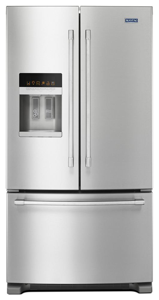 36  Inch Wide French Door Refrigerator With PowerCold® Feature   25 Cu. Ft