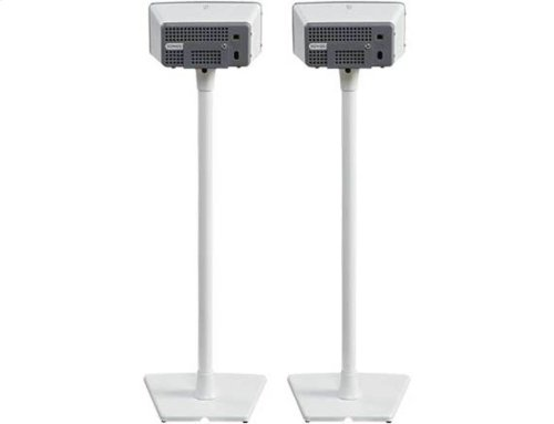 White Wireless Speaker Stands for Sonos PLAY:1 and PLAY:3 - Pair