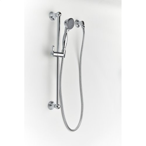 Slide Bar With Hand Shower Berea Series 11 Polished Chrome