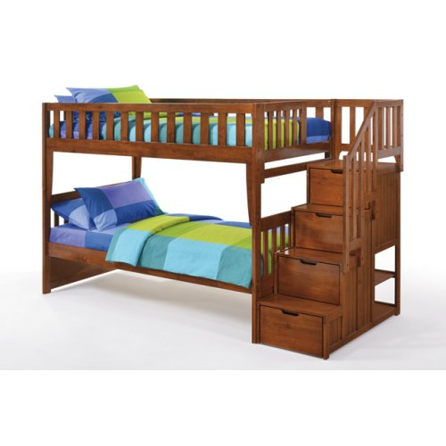 Peppermint Stair Bunk in Cherry Finish