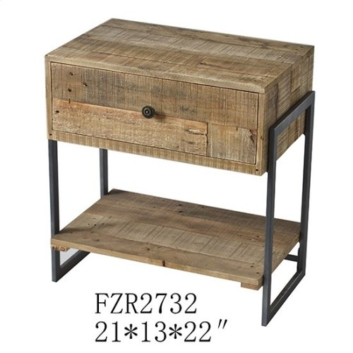 """21X13X22"""" WOOD END TABLE, 1 PC PK/ 2.82'"""